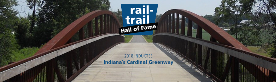 Rail-Trail Hall of Fame logo and text stating